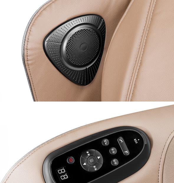 boutons sur le fauteuil de massage