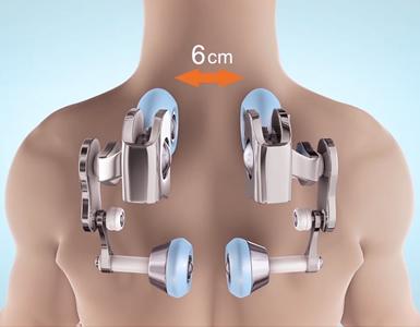 Zone de massage du dos sur le fauteuil Komoder KM500L