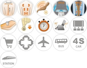 Spécifications du  fauteuil de massage commerciale